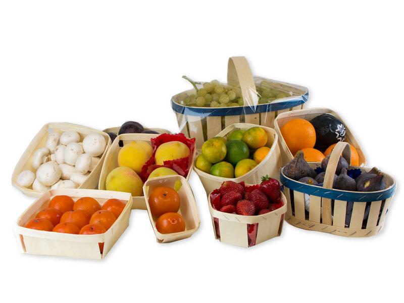 Cestas de madera para frutas y verduras Balandrina