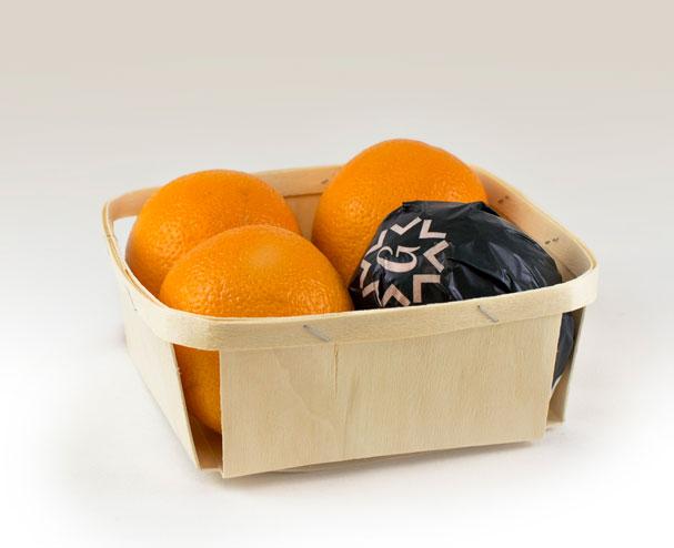 Cestas de madera para frutas