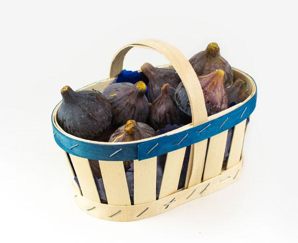 Cesta de madera con asa para frutas