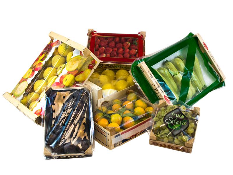 Cubrecajas de Plastico para frutas y verduras Balandrina