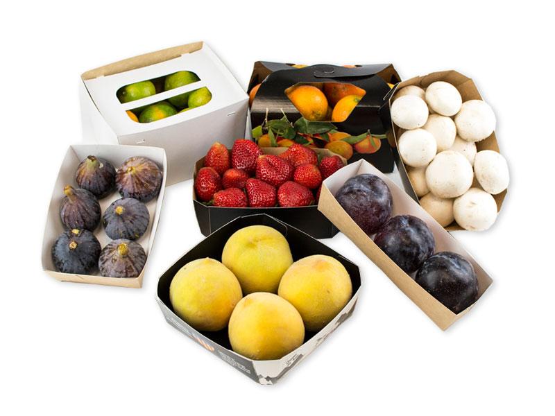 Envases de carton o madera para frutas y verduras Balandrina