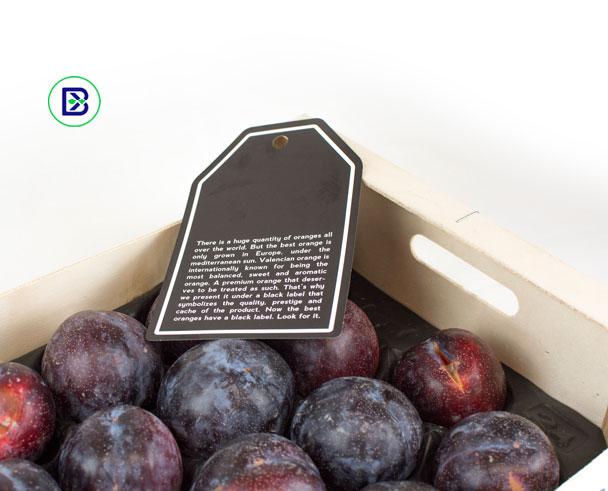 etiquetas carton para cajas de frutas y verduras