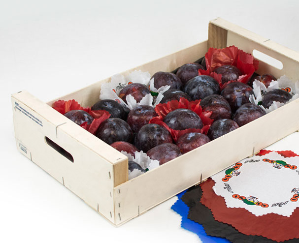 papier de soie fruits