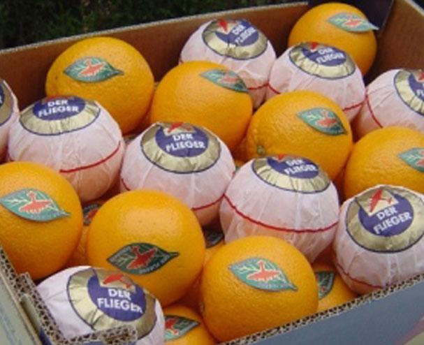 papier de soie oranges